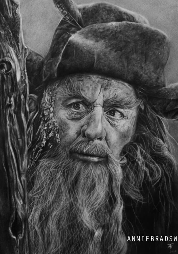 Anne Tuza portrait drawing of Radagast