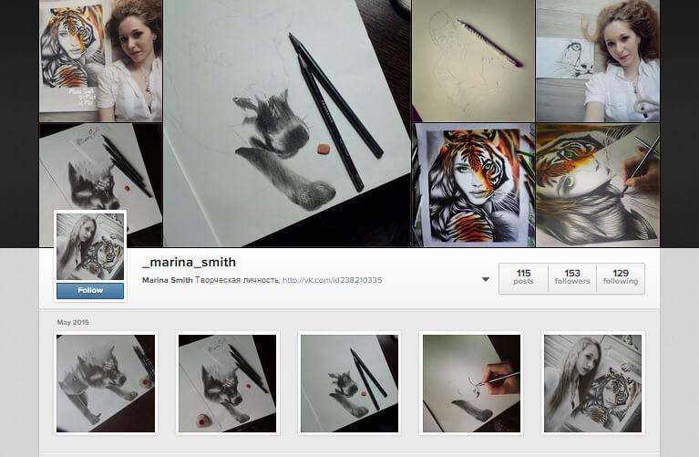 Marina Smith Artist on Instagram