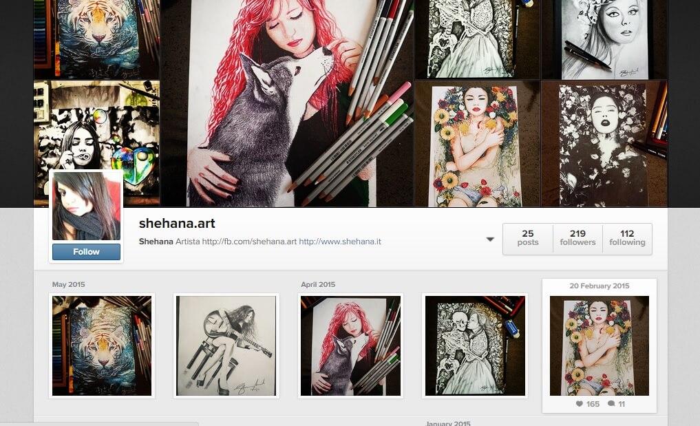 Shehana Artist on Instagram