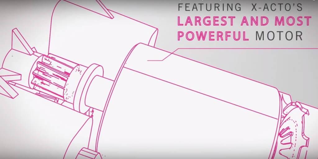 Pencil sharpener x-acto motor