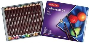 Derwent Coloursoft Colour Pencils 24 pieces set