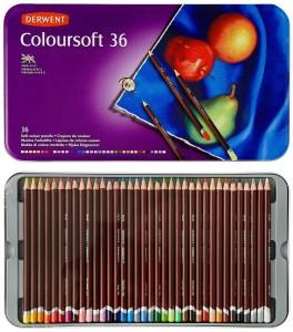 Derwent Coloursoft Colour Pencils 36 pieces set