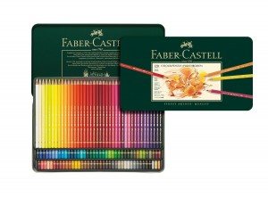 Faber Castell colored pencils metal tin