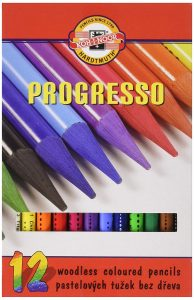 Kohinoor woodless colored pencils 12 pieces
