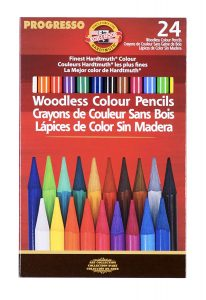 Kohinoor woodless colored pencils 24 pieces