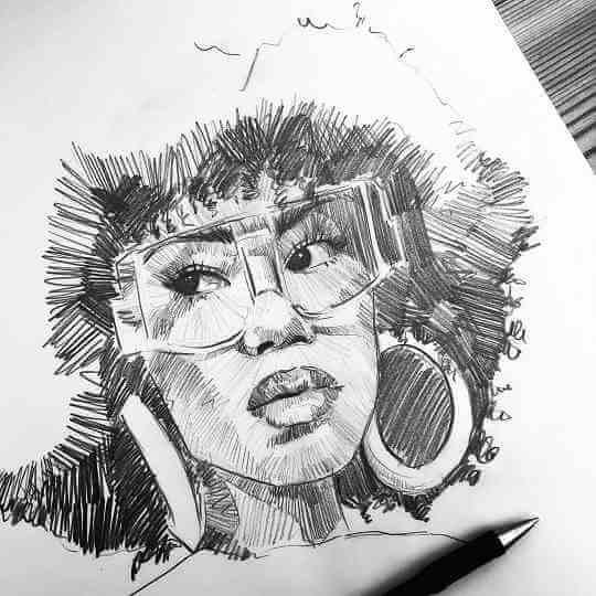 Ballpoint pen artist Hannah germany luen
