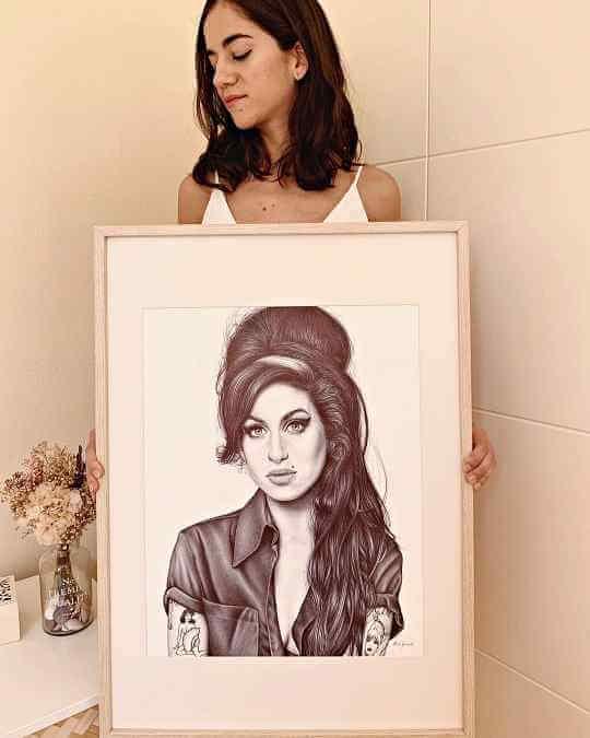 ballpoint pen artist Eva Garrido