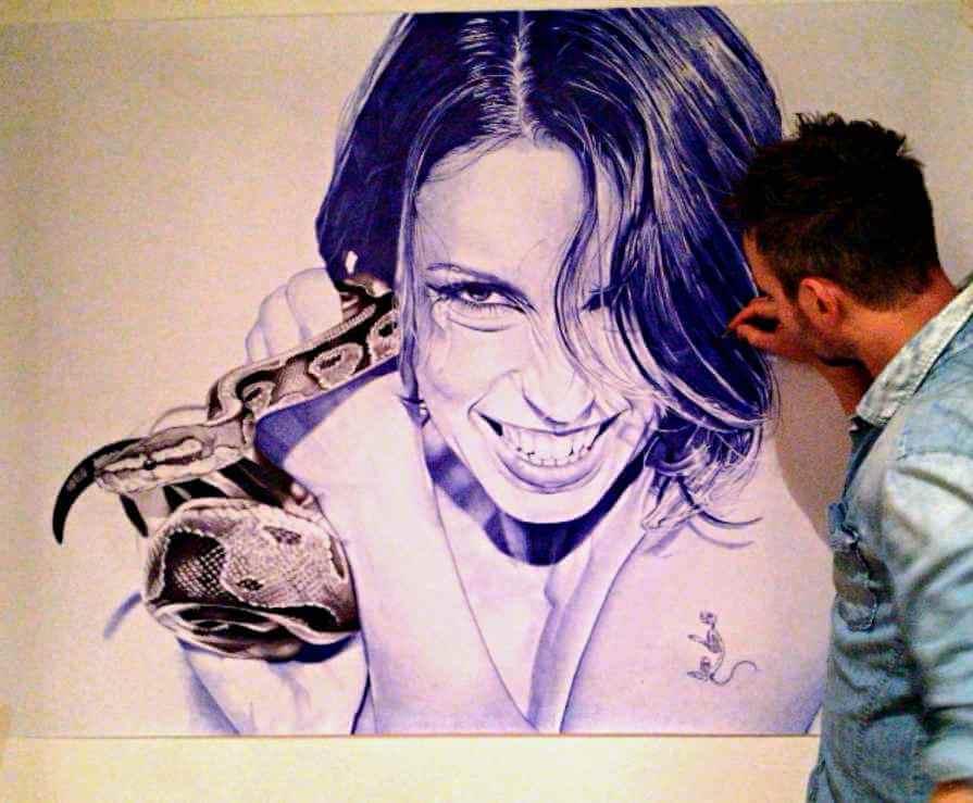 ballpoint pen artist mateo felloni