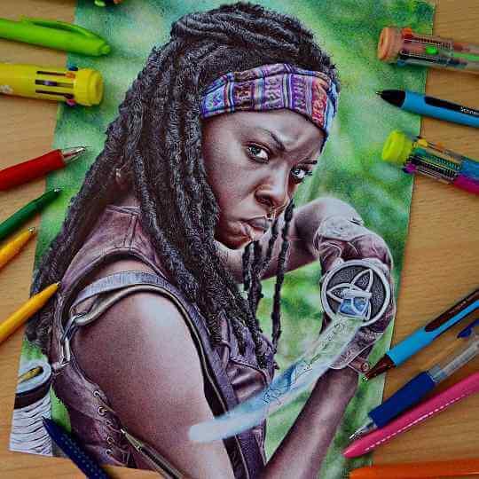 ballpoint pen artists Zita Vegh @veghzita