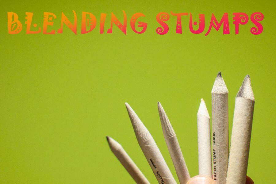Blending stumps for drawing with graphite pencils